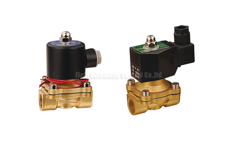 "16~50mm Orifice 2/2 Brass Pneumatic Solenoid Valve G1/2""~G2"" With Viton Seal"